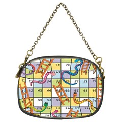 Snakes Ladders Game Board Chain Purses (two Sides)  by Mariart