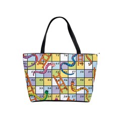 Snakes Ladders Game Board Shoulder Handbags by Mariart