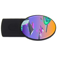 Triangle Wave Rainbow Usb Flash Drive Oval (2 Gb) by Mariart