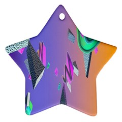 Triangle Wave Rainbow Star Ornament (two Sides)