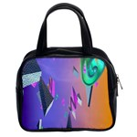 Triangle Wave Rainbow Classic Handbags (2 Sides) Front