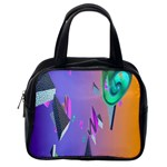 Triangle Wave Rainbow Classic Handbags (2 Sides) Back