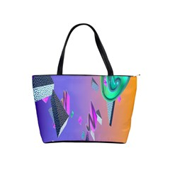 Triangle Wave Rainbow Shoulder Handbags by Mariart