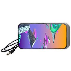 Triangle Wave Rainbow Portable Speaker (black) by Mariart