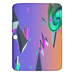 Triangle Wave Rainbow Samsung Galaxy Tab 3 (10 1 ) P5200 Hardshell Case  by Mariart