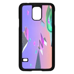 Triangle Wave Rainbow Samsung Galaxy S5 Case (black) by Mariart