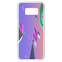 Triangle Wave Rainbow Samsung Galaxy S8 White Seamless Case by Mariart
