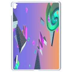 Triangle Wave Rainbow Apple Ipad Pro 9 7   White Seamless Case