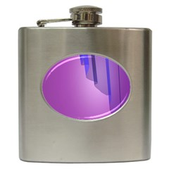 Verre Bleu Wave Chevron Waves Purple Hip Flask (6 Oz) by Mariart