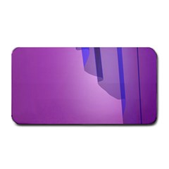 Verre Bleu Wave Chevron Waves Purple Medium Bar Mats