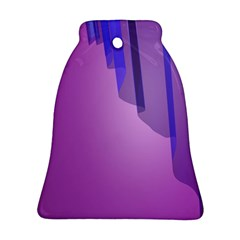 Verre Bleu Wave Chevron Waves Purple Ornament (bell) by Mariart