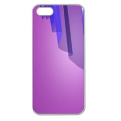 Verre Bleu Wave Chevron Waves Purple Apple Seamless Iphone 5 Case (clear) by Mariart