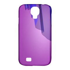 Verre Bleu Wave Chevron Waves Purple Samsung Galaxy S4 Classic Hardshell Case (pc+silicone) by Mariart