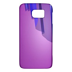 Verre Bleu Wave Chevron Waves Purple Galaxy S6 by Mariart