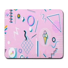 Vintage Unique Graphics Memphis Style Geometric Large Mousepads