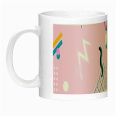 Vintage Unique Graphics Memphis Style Geometric Night Luminous Mugs by Mariart
