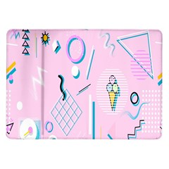Vintage Unique Graphics Memphis Style Geometric Samsung Galaxy Tab 10 1  P7500 Flip Case by Mariart