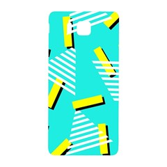 Vintage Unique Graphics Memphis Style Geometric Triangle Line Cube Yellow Green Blue Samsung Galaxy Alpha Hardshell Back Case