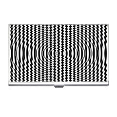Vertical Lines Waves Wave Chevron Small Black Business Card Holders by Mariart