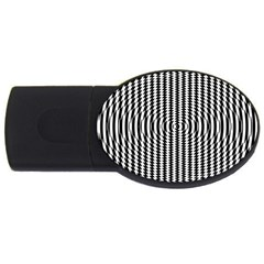 Vertical Lines Waves Wave Chevron Small Black Usb Flash Drive Oval (2 Gb) by Mariart