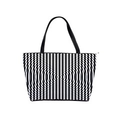 Vertical Lines Waves Wave Chevron Small Black Shoulder Handbags by Mariart