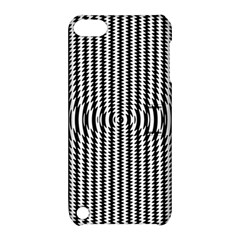 Vertical Lines Waves Wave Chevron Small Black Apple Ipod Touch 5 Hardshell Case With Stand by Mariart