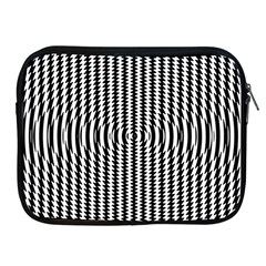 Vertical Lines Waves Wave Chevron Small Black Apple Ipad 2/3/4 Zipper Cases by Mariart