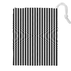 Vertical Lines Waves Wave Chevron Small Black Drawstring Pouches (xxl) by Mariart
