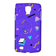 Vintage Unique Graphics Memphis Style Geometric Style Pattern Grapic Triangle Big Eye Purple Blue Galaxy S4 Active by Mariart