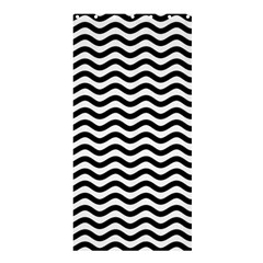Waves Stripes Triangles Wave Chevron Black Shower Curtain 36  X 72  (stall)  by Mariart