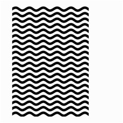 Waves Stripes Triangles Wave Chevron Black Small Garden Flag (two Sides)
