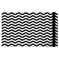 Waves Stripes Triangles Wave Chevron Black Apple Ipad 2 Flip Case by Mariart
