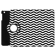 Waves Stripes Triangles Wave Chevron Black Apple Ipad Mini Flip 360 Case by Mariart