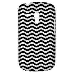 Waves Stripes Triangles Wave Chevron Black Galaxy S3 Mini by Mariart