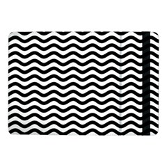 Waves Stripes Triangles Wave Chevron Black Samsung Galaxy Tab Pro 10 1  Flip Case by Mariart