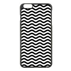 Waves Stripes Triangles Wave Chevron Black Apple Iphone 6 Plus/6s Plus Black Enamel Case by Mariart
