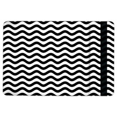 Waves Stripes Triangles Wave Chevron Black Ipad Air 2 Flip by Mariart
