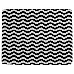 Waves Stripes Triangles Wave Chevron Black Jigsaw Puzzle Photo Stand (rectangular) by Mariart