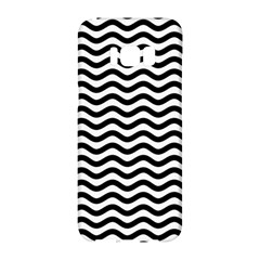 Waves Stripes Triangles Wave Chevron Black Samsung Galaxy S8 Hardshell Case  by Mariart