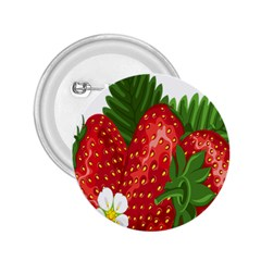 Strawberry Red Seed Leaf Green 2 25  Buttons by Mariart