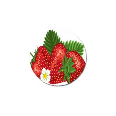 Strawberry Red Seed Leaf Green Golf Ball Marker (4 Pack) by Mariart