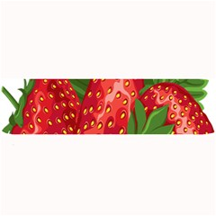 Strawberry Red Seed Leaf Green Large Bar Mats by Mariart