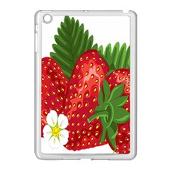 Strawberry Red Seed Leaf Green Apple Ipad Mini Case (white) by Mariart