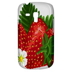 Strawberry Red Seed Leaf Green Galaxy S3 Mini by Mariart