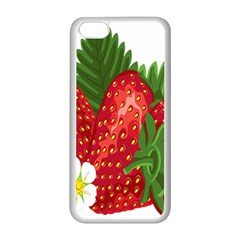 Strawberry Red Seed Leaf Green Apple Iphone 5c Seamless Case (white) by Mariart
