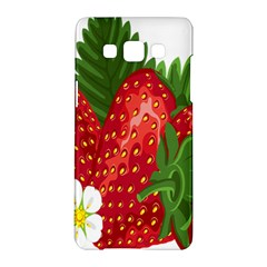 Strawberry Red Seed Leaf Green Samsung Galaxy A5 Hardshell Case  by Mariart