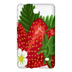 Strawberry Red Seed Leaf Green Samsung Galaxy Tab 4 (7 ) Hardshell Case