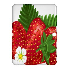 Strawberry Red Seed Leaf Green Samsung Galaxy Tab 4 (10 1 ) Hardshell Case  by Mariart