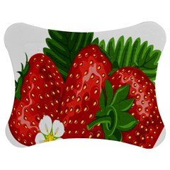 Strawberry Red Seed Leaf Green Jigsaw Puzzle Photo Stand (bow) by Mariart