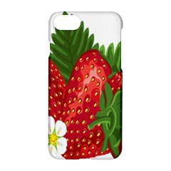 Strawberry Red Seed Leaf Green Apple Iphone 7 Hardshell Case by Mariart